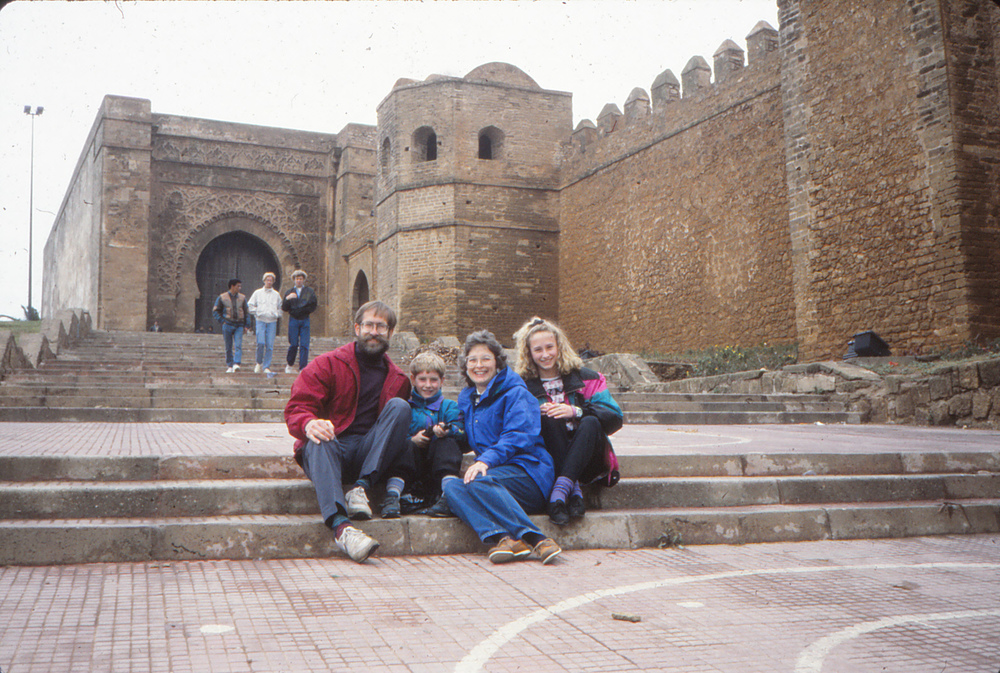 Spiger Family visiting morocco in 1992