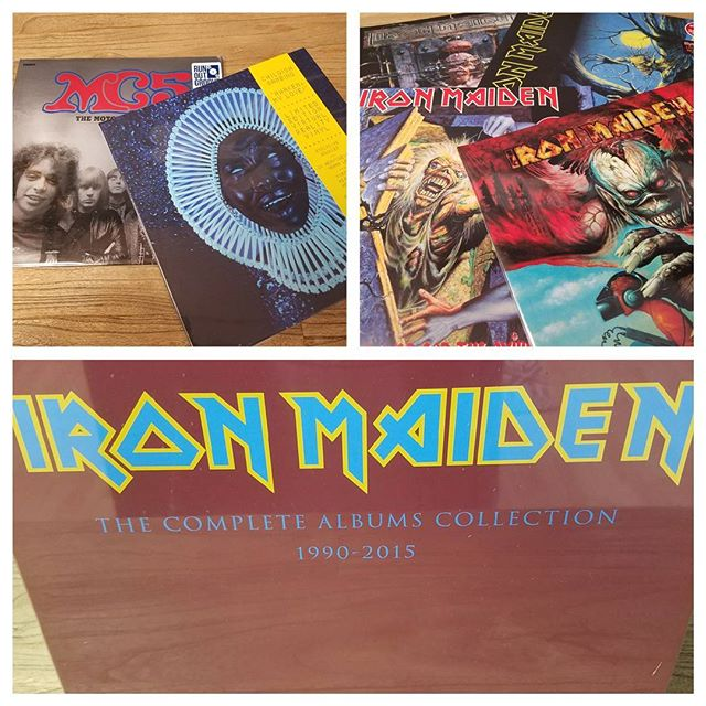 Some of the new vinyl out this week!! #ironmaiden #childishgambino #mc5