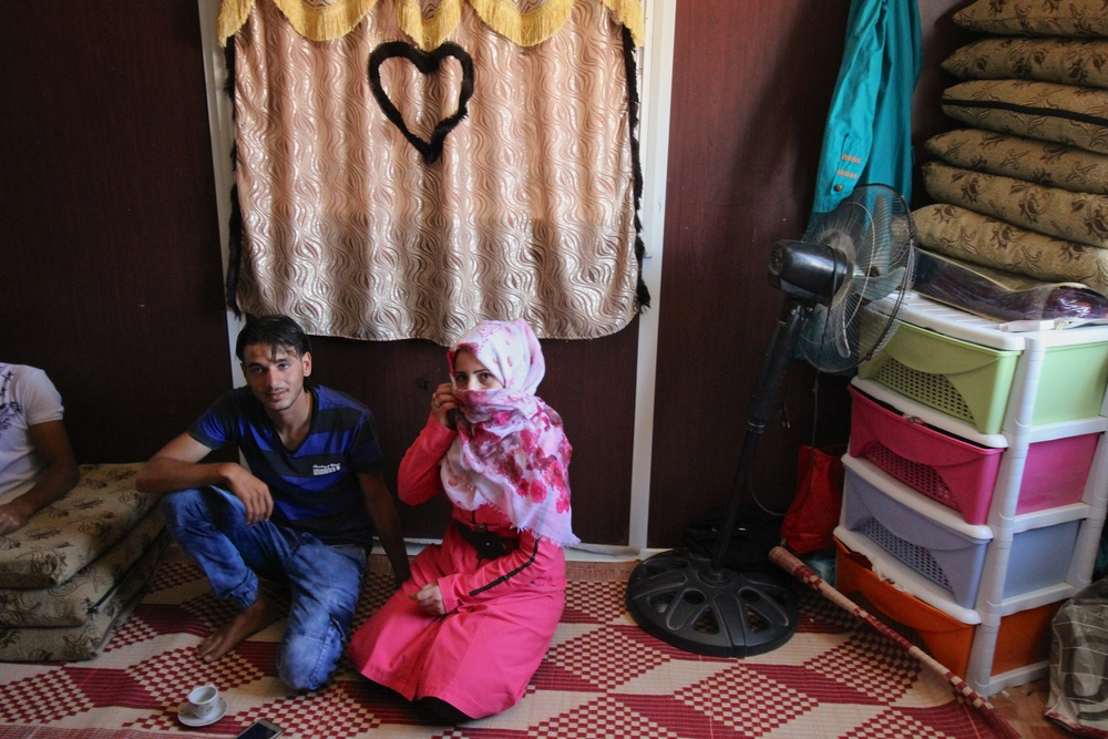 Israa, 14, and Zayed, 18, talk about their engagement in Zaatari refugee camp
