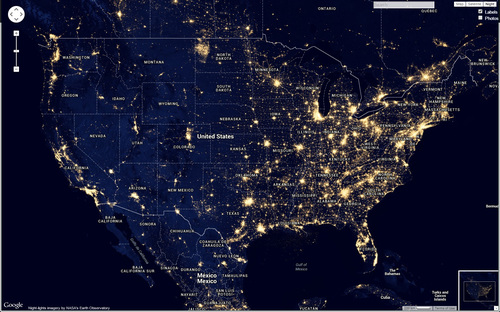 How To Find Dark Skies For Night Photography Night Photography - Us map at night
