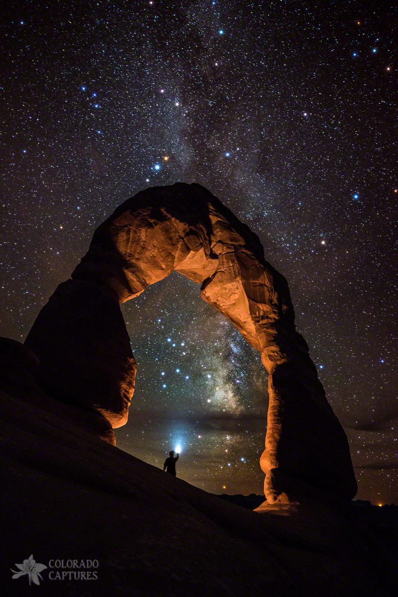 Milky Way Illumination At Delicate Arch
