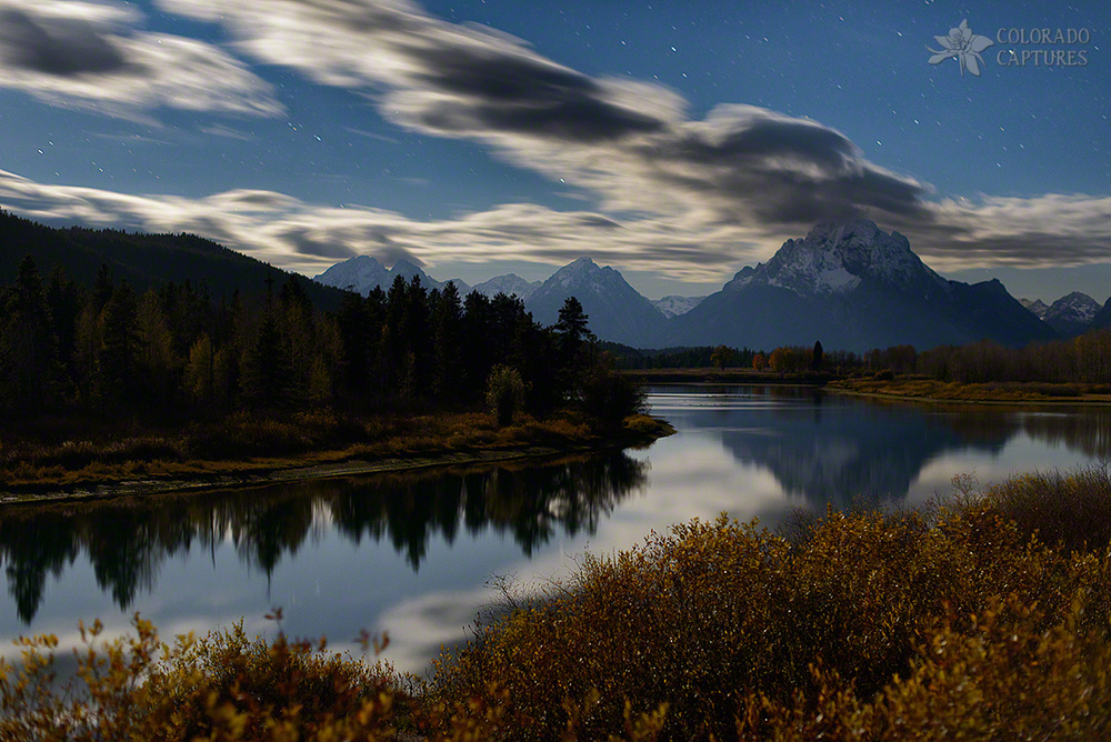 Moonlit Mount Moran