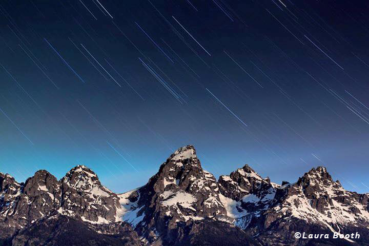 Star Trails over Grand Teton