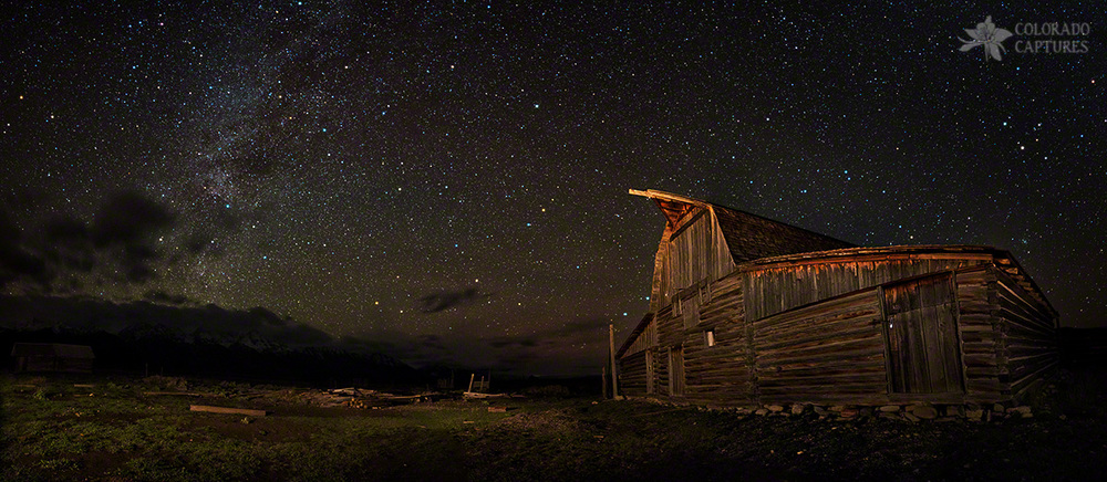 """Moulton Barn Milky Way Panorama"" - Grand Teton National Park, Wyoming"