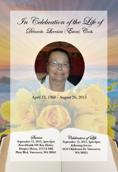 Funeral Program Front Page