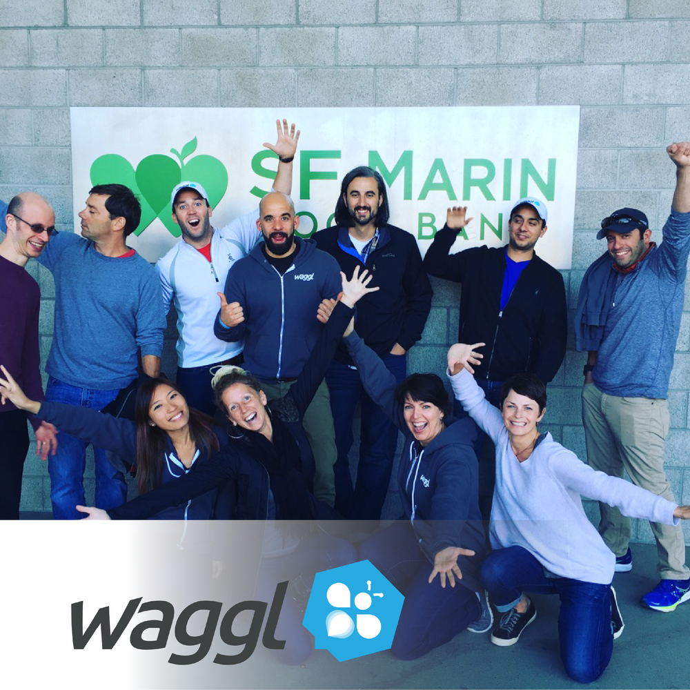 Here we shared about how the Waggl team worked at a food bank.