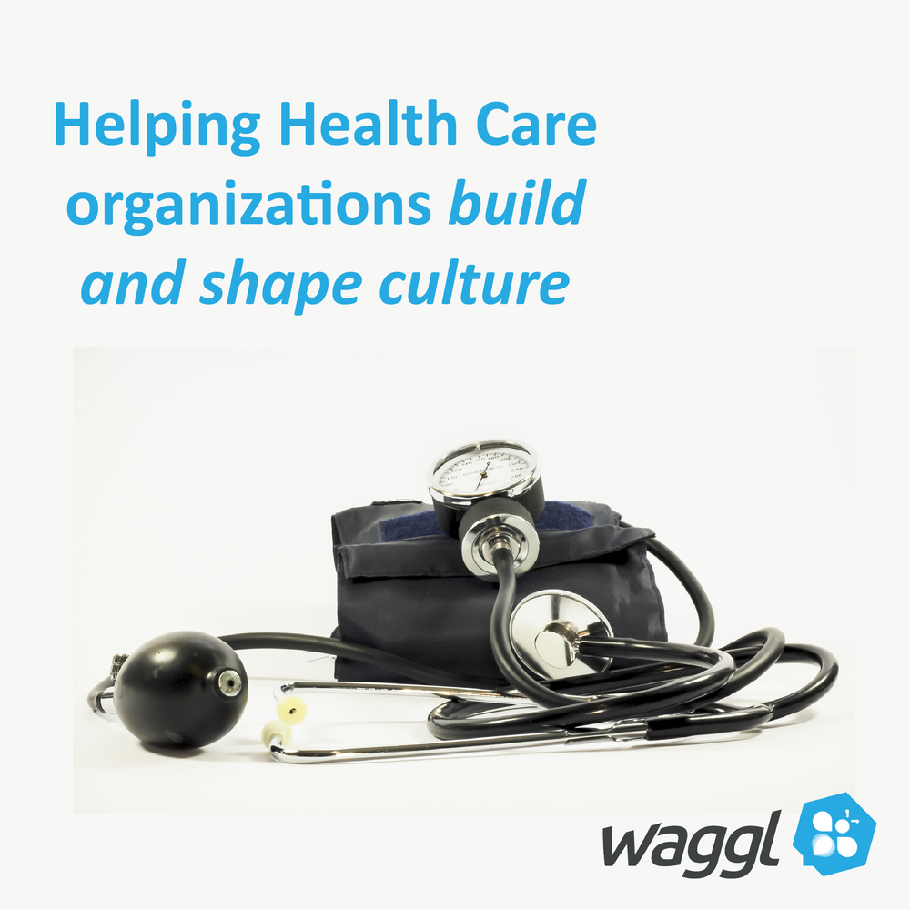 Here is a image that accompanied an announcement for a $400 discount to attend a Health Care Conference that Waggl is speaking at.