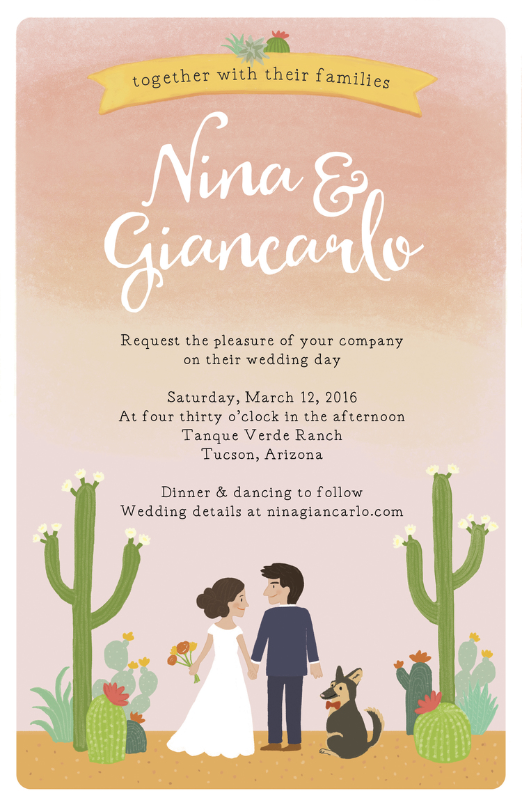 Arizona-themed Wedding invitation