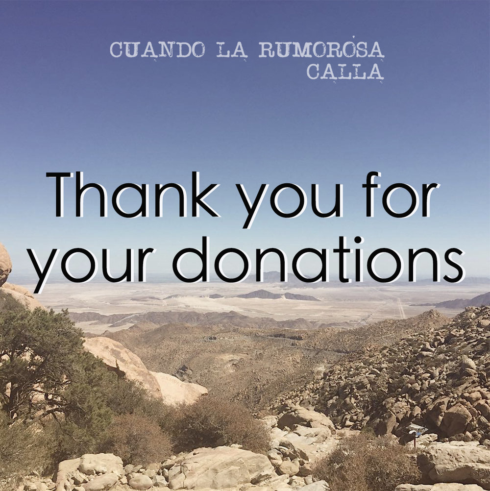 Personalized thank you cards - Cuando La Rumorosa Calla (15 min. Mexico, in Spanish with English subtitles, 2019)