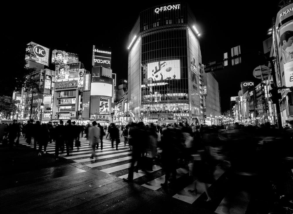 Shibuya Crossing – Tokyo Japan – Fujifilm X-T10 with XF10-24mmF4 – 10mm – F4 – 1/5sec – ISO200