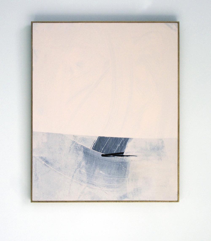 MICHAEL BENNETT  'Highs & Lows', (Diptych 2/2)2017 mixed media on board, framed in Tasmania oak 113 x 186 cm $6,000 AUD