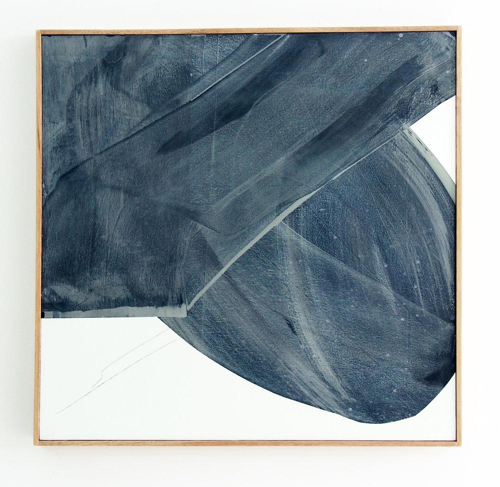 MICHAEL BENNETT  'Whirlpool', 2017 mixed media on board, framed in Tasmania oak 68 x 67 cm $2,200 AUD