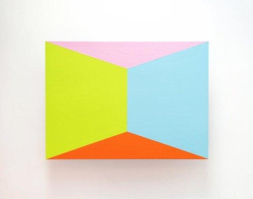 BRENT HALLARD   'Roomy IV', 2015,acrylic on anodized aluminum 33 x 45.7 cm $1,800