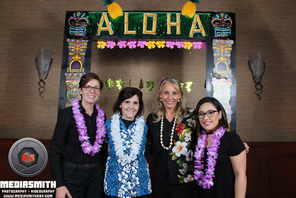 Hawaiian themed photo booth at Kiva Club