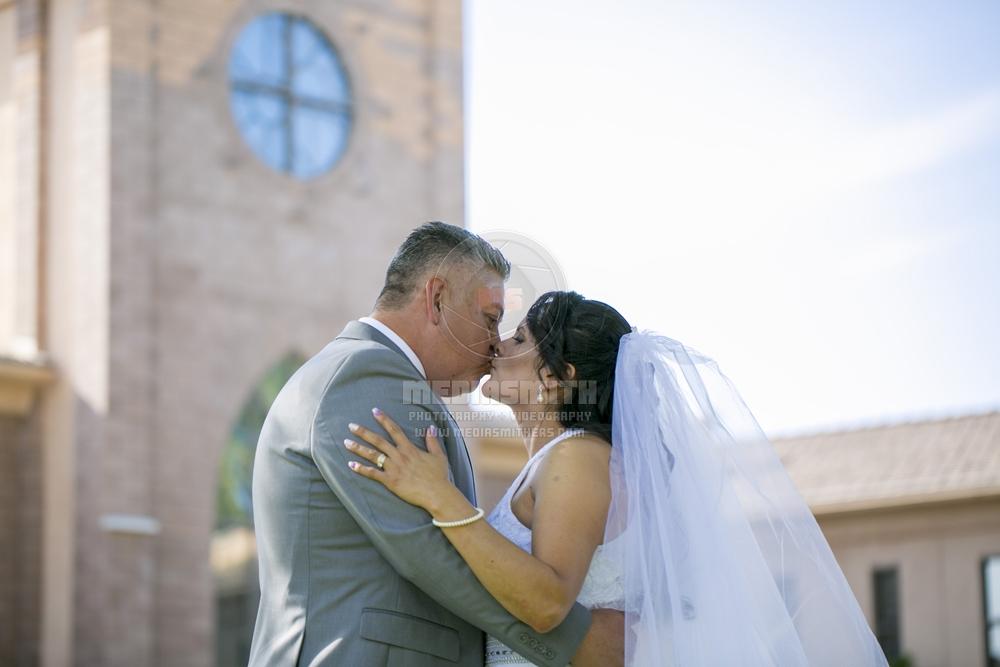 Phoenix, Arizona   04-21-18; Vincente Farias + Maria Perez Ayala (St. Joan of Arc Catholic Church)  Wedding Photography  MediaSmith LLC - www.mediasmithers.com - Taken by Joshua Smith