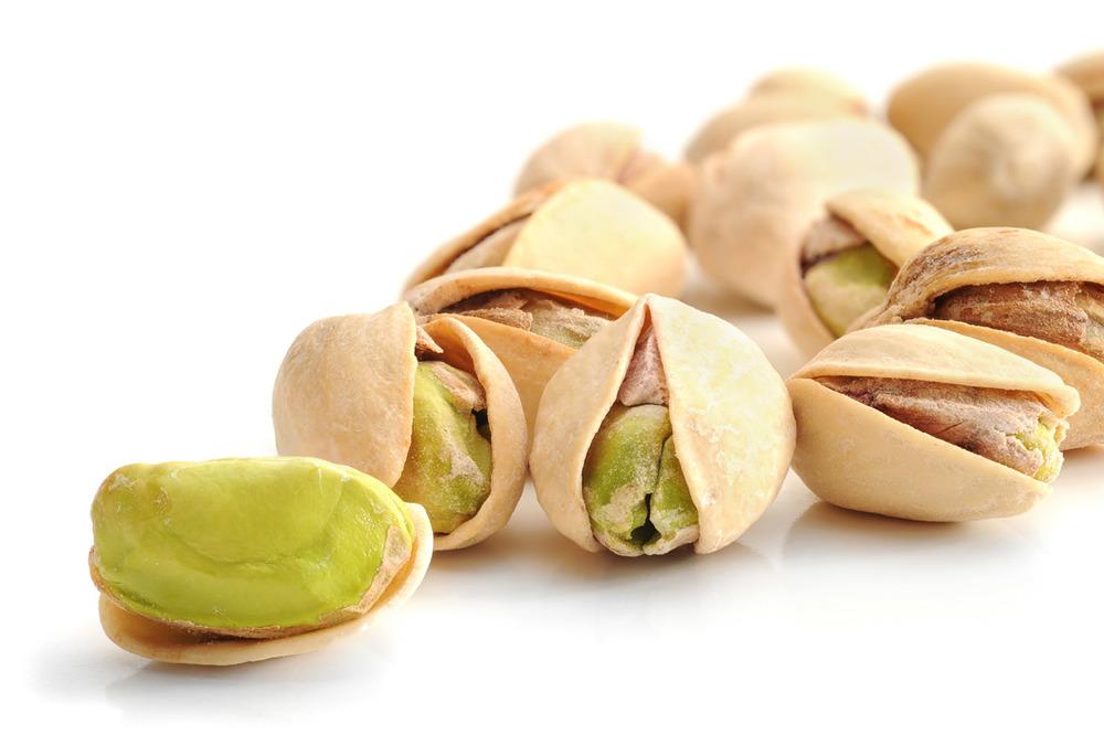 Pistachio nuts Persian ice cream