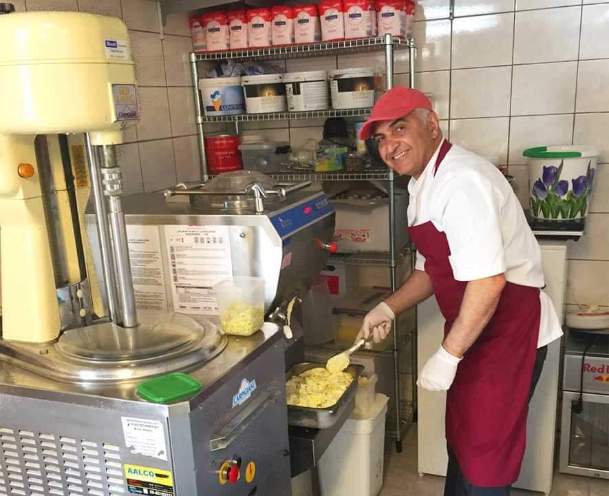 Shahin ice cream chef