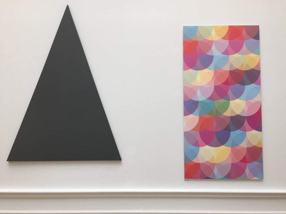 Triangle Painting by Alan Charlton and Fiction 3 (Invisible Cities) by Tim Head