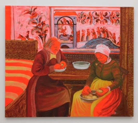The Last Peasant-Painters Peeling Potatoes (Old Woman Mill), Sigrid Holmwood, 2007