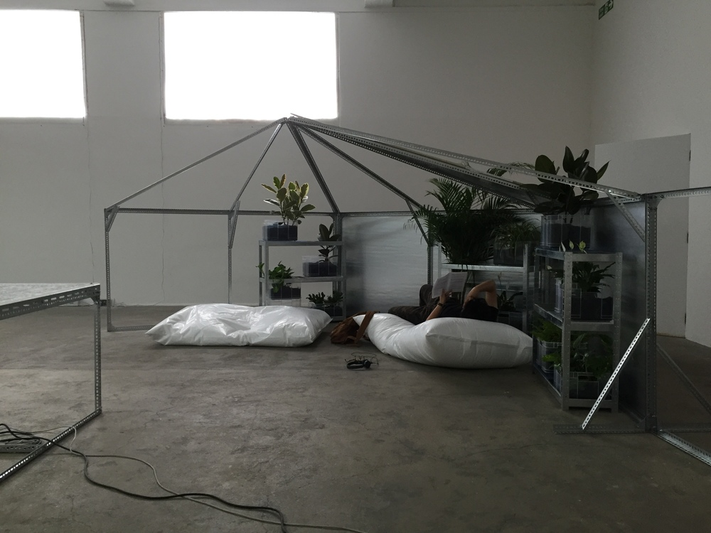 logistics for user, space, 2016 installation view
