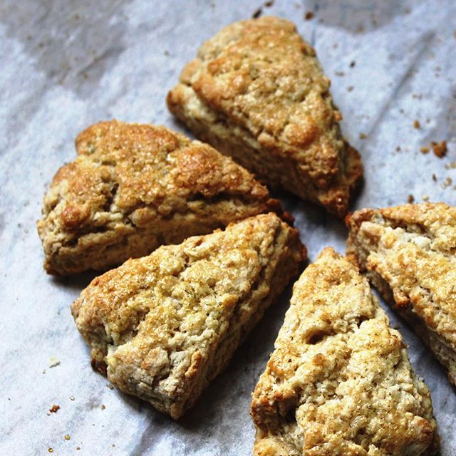 The only cure for a cold, cloudy Wednesday, herb scones + Masterpiece Classics  #breakfast #scones #baking #bbc #wednesday #butter #seasonal #eeeeeats #nyceats #eater #f52grams #feedfeed #delish #food