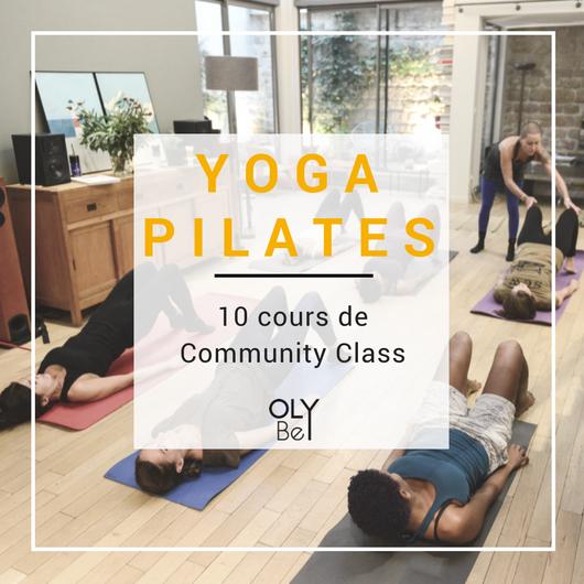 Carte de 10 cours de Community Class - 7,20€/cours Valable 6 mois sur les cours de Yoga, Pilates et Méditation