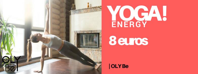 YOGA ENERGY Venez faire le plein d'énergie en réveillant votre corps et votre esprit ! Ce cours se compose d'un enchaînement de postures de Yoga dynamiques, en musique et dans la bonne humeur. Vous allez sculpter votre corps tout en libérant votre mental et ressortirez du cours boosté, avec une sensation d'énergie et de bien-être durables !