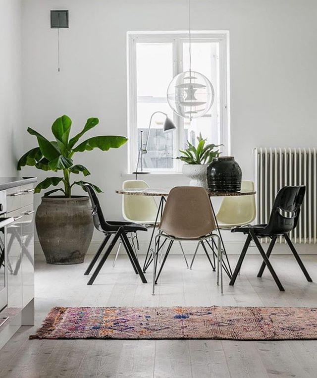Vi bara gillar stilen...Rejäla gröna växter, udda designstolar och snygga lampklassikern Verpan @vernerpantonofficial #stil #heminredning #lampa #lamp #krukväxter #svenskahem #scandinavianhome foto @soficreart