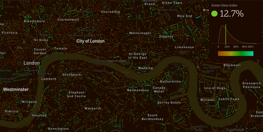 Treepedia have mapped London and 27 cities around the world