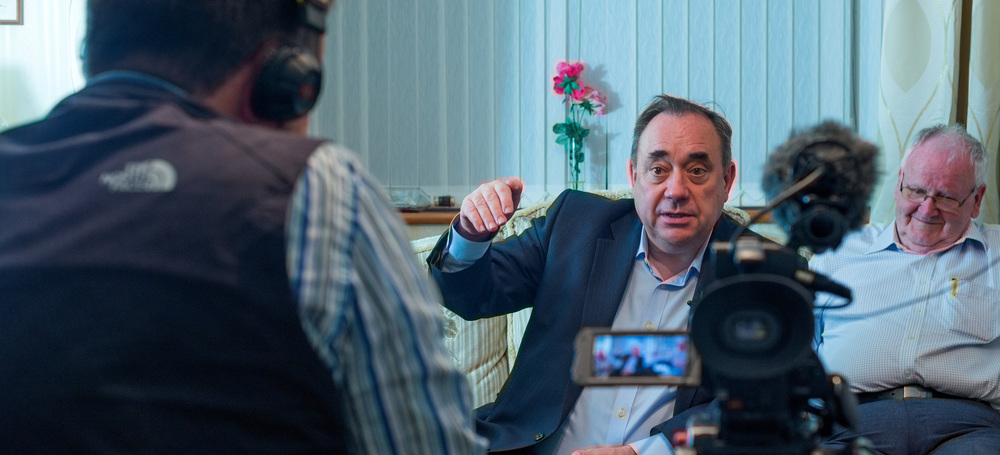 Filming Alex Salmond and founding SNP members