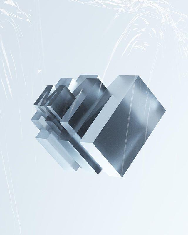 Mm. @36daysoftype  _ #36daysoftype #36daysoftype_m #design #creativedirection #minimal #c4d #octane #glass #daily