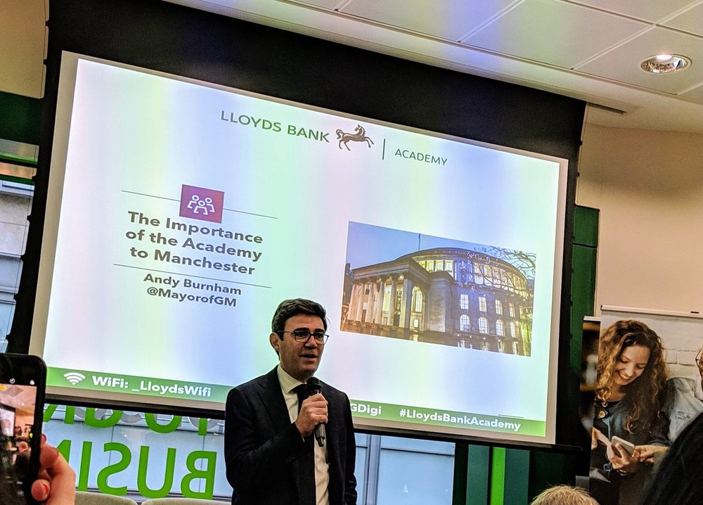 Andy Burnham at Lloyds Academy Launch
