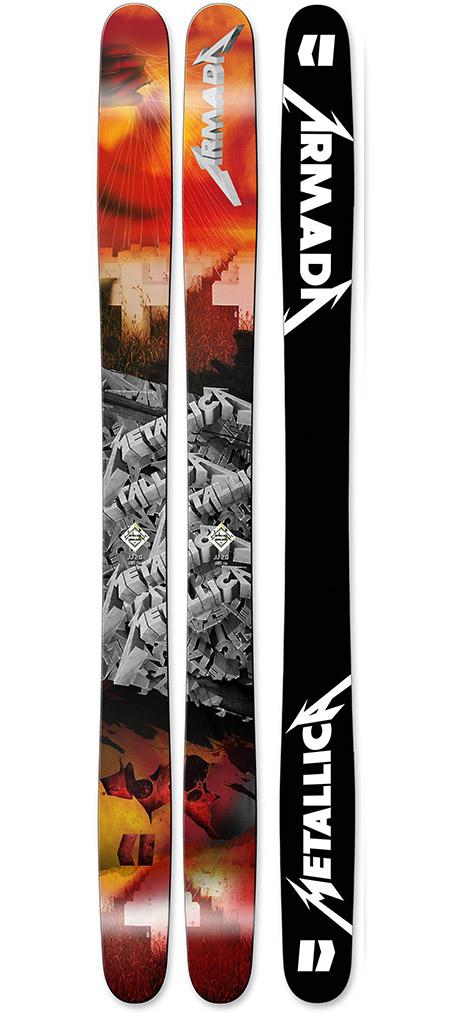 Armada x Metallica X JJ 2.0 Skis, $800
