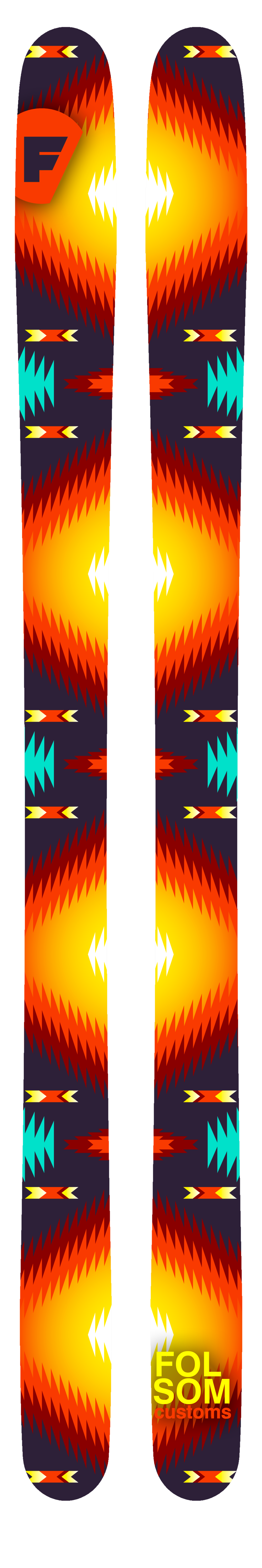 Folsom Skis Native Sun Graphic, $100