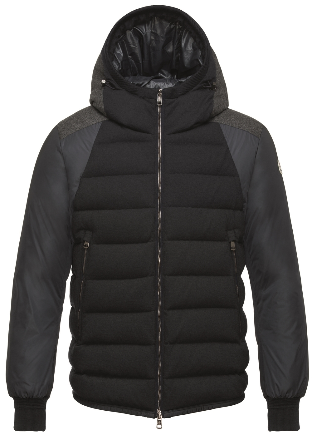 Moncler Navy Quilted Down Augert Coat, $1,665