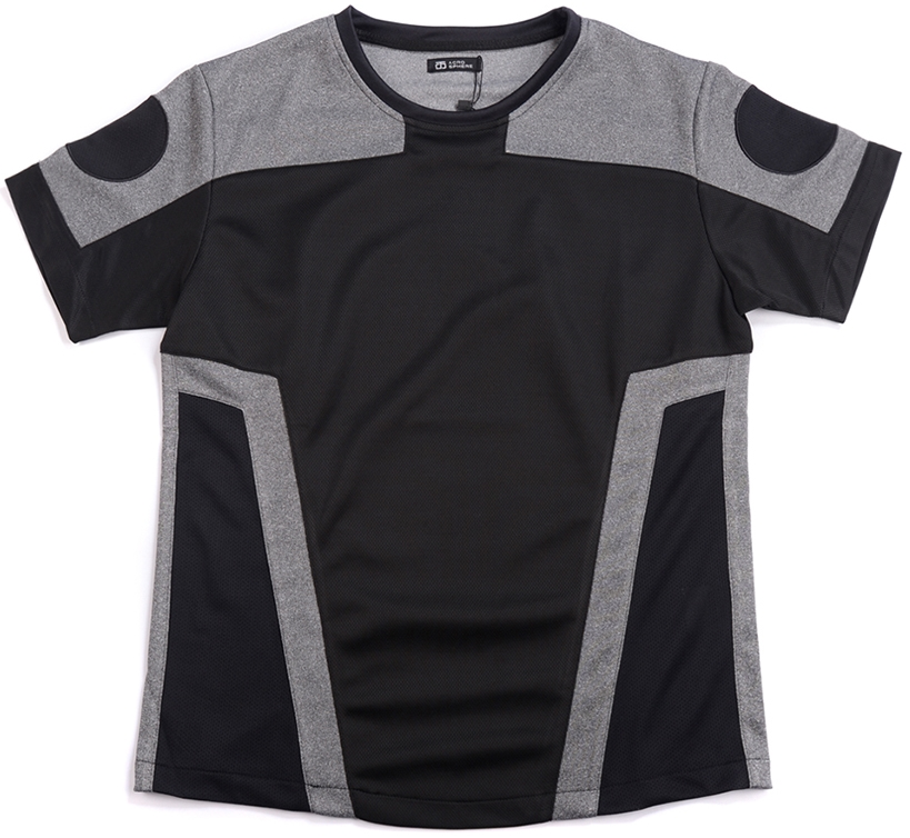 ACROSPHERE Hyperspace Mesh Paneled T-shirt, $75