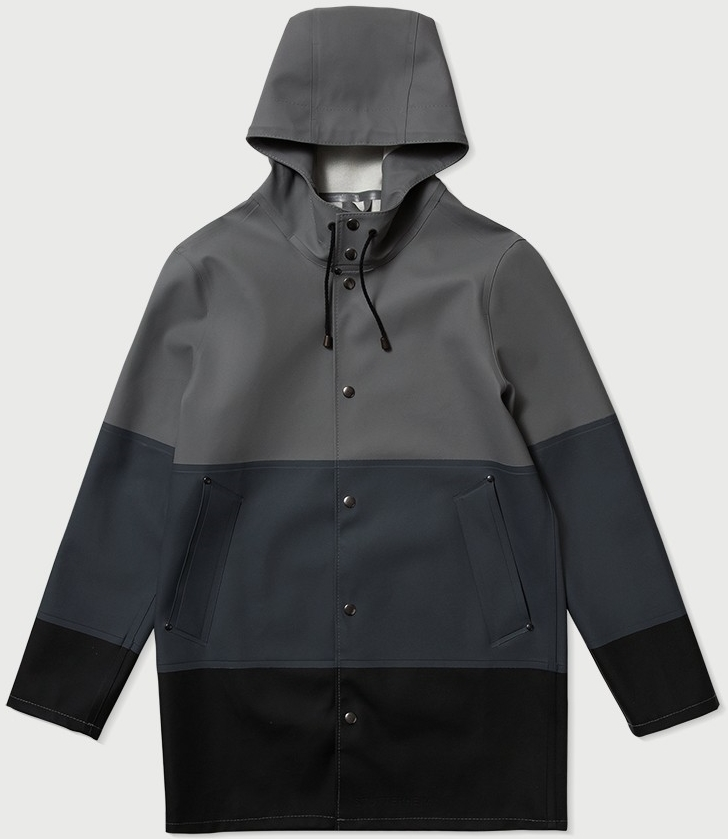 Stutterheim Stockholm Large Stripe Raincoat, $345