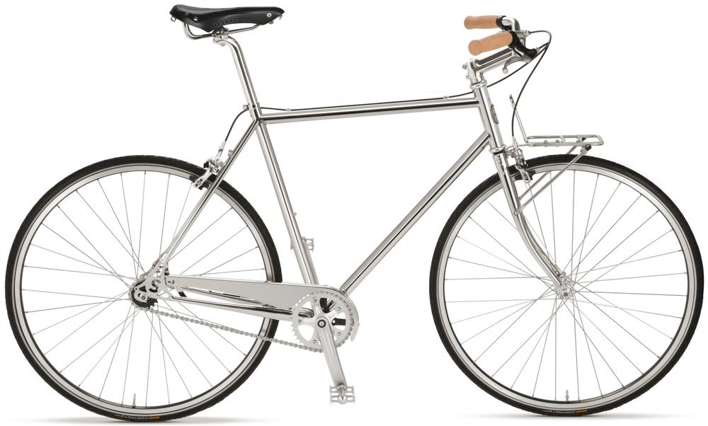 Shinola Nickel Plated Detroit Arrow Bicycle, $N/A
