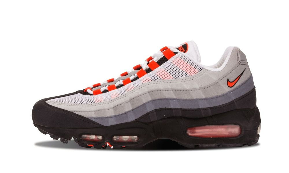 mens nike air max 95 orange white