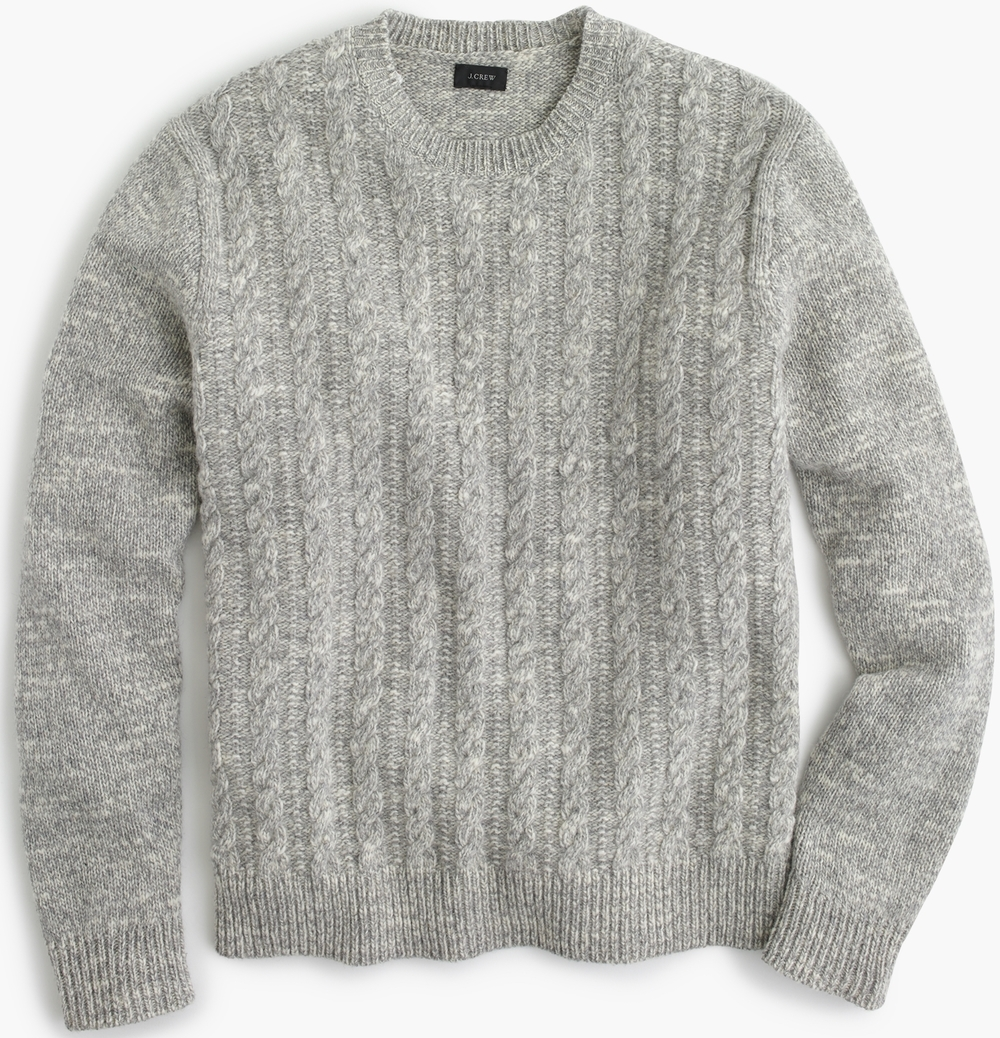J.Crew Italian Wool Cable Sweater, $128
