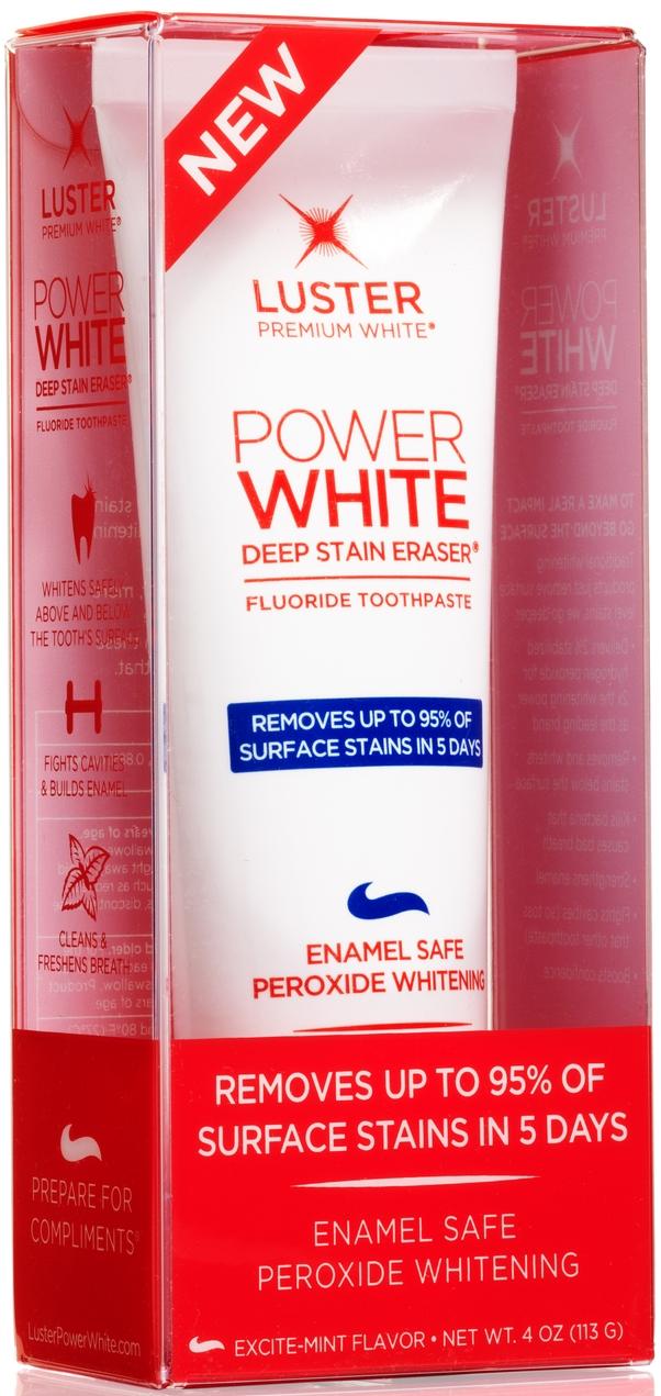 Luster Premium White Power White Deep Stain Eraser® Fluoride Toothpaste, $7