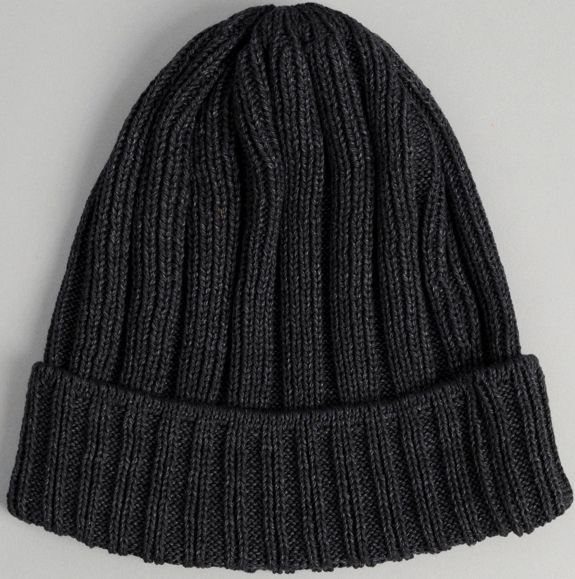 the Hill-side Faded Black Pima Cotton Knit Cap, $78