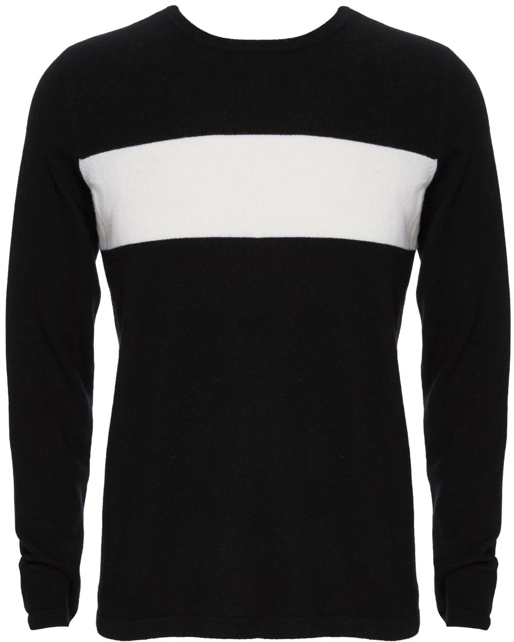 VINCE Wool Cashmere Block Stripe Crew Neck Sweater, $295