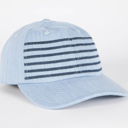 1a986b95863 Mitchell   Ness 6 Stripe DENIM Strap Back Hat — Grungy Gentleman