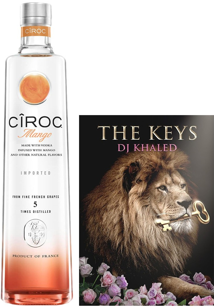 CÎROC Mango (750mL) x DJ Khaled Gift Set, $43