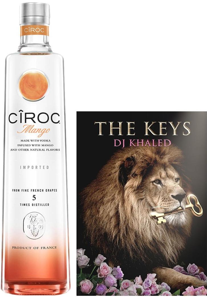 CÎROC Mango (750mL) x DJ Khaled Gift Set, $43