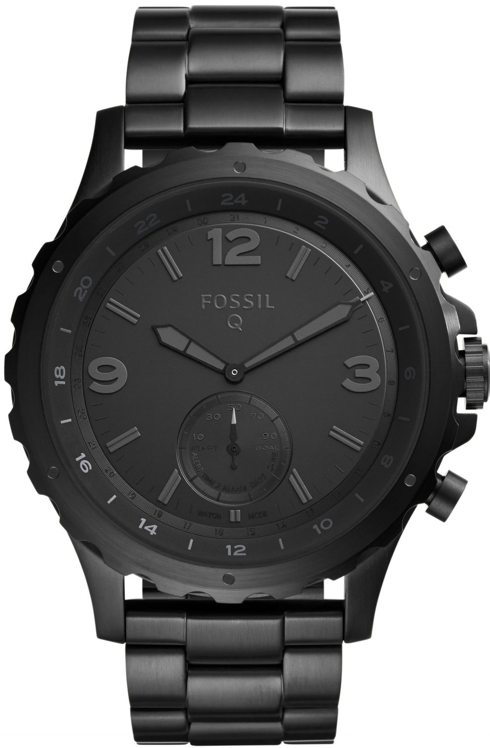 Fossil Q Nate Hybrid Black Stainless Steel Smartwatch, $215