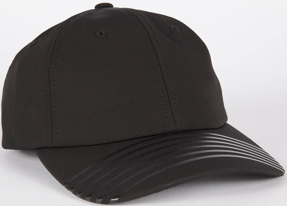Grungy Gentleman x Mitchell & Ness 6 Stripe STEALTH Performance Velcro Hat, $50