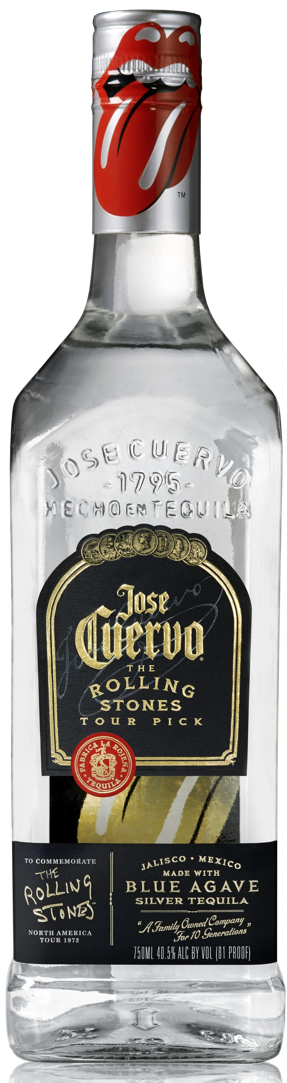 Jose Cuervo Silver - The Rolling Stones Tour Pick Bottle (750 mL), $22.99