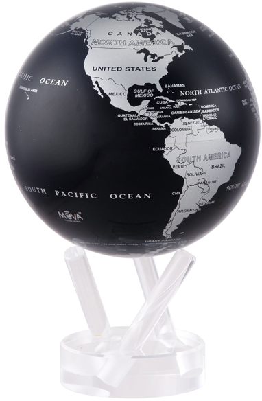 MOVA® Silver and Black Metallic Globe, $125